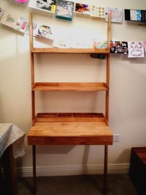 oak lean to desk futon company as new desk posot class. Black Bedroom Furniture Sets. Home Design Ideas