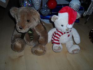 MY FIRST HARRODS CHRISTMAS  WHITE SOFT TEDDY AND ORIGINAL HARRODS BEAR