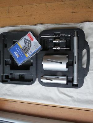 Unused Power Craft 7 piece diamond core drill set
