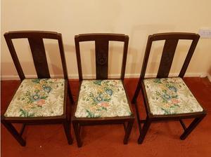 Vintage solid wood 3 chairs in Watford