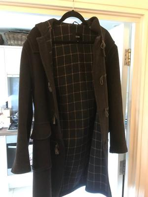 Brown duffle winter 3/4 coat. Medium