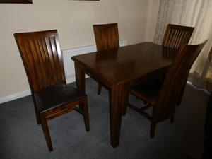 Dining table 4 chairs and sideboard