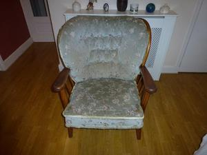 Ercol style settee and chair