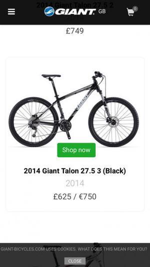 Giant Talon 27.5 hardtail men's mountain bike