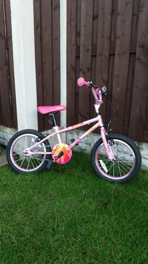 """Girls 16"""" bmx bike like new can deliver for a small charge"""