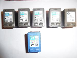 HP  **EMPTY** Ink Cartridges x 6 **TO REFILL**