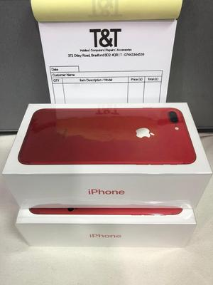 IPHONE 7 PLUS 256GB RED UNLOCK BRAND NEW 12 MONTH