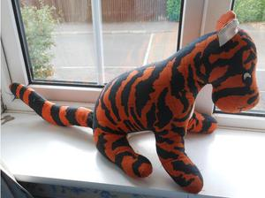 Large Tigger soft toy from Winnie the Pooh books in