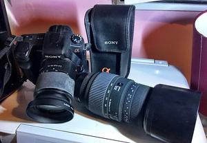 Sony Alpha A200 Digital SLR Camera mm Lens + Sigma GD mm Zoom Lens + Sony Flash