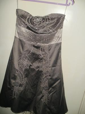 charcoal grey debenhams size 8 dress,with floral design,debenhams branded.