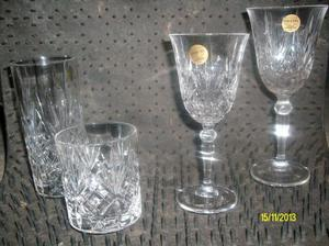 crystal drinks glasses