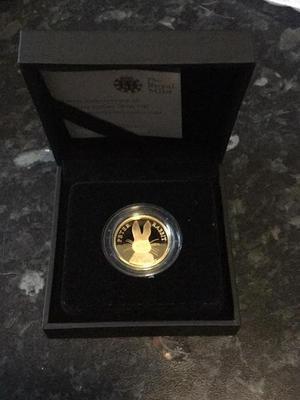 24ct Gold Peter Rabbit £25 coin