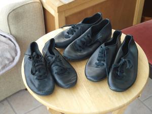 3 Pair of black Jazz dance shoes