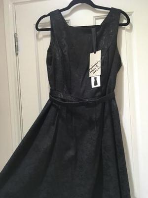 BNWT size 16 'W' BHS Black Rose Dress