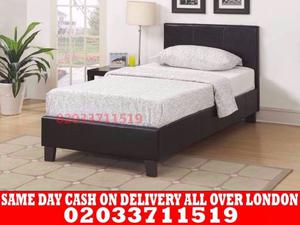 BRAND NEW SINGLE KING SIZE AND DOUBLE SIZE LEATHER BED Available With MATTRESS Fultonham