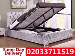 Brand New Double Crush Velvet Storage Bed Available With Mattress Get It Today Winchester