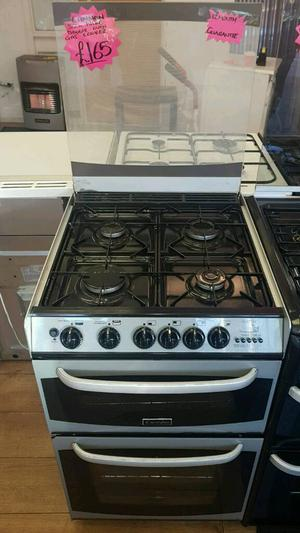 CANNON 55CM GAS DOUBLE OVEN COOKER IN SILVER