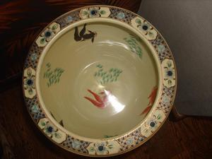 CHINESE CERAMIC VINTAGE FISH BOWL