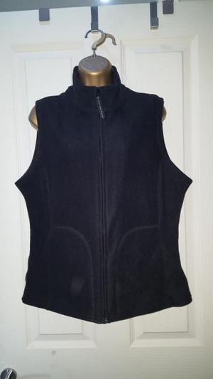 M&S black fleece gilet body warmer sz16
