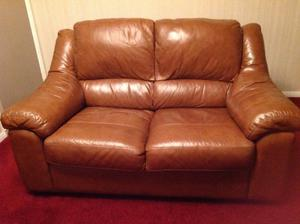 Two 2 seater leather sofas, very good condition.