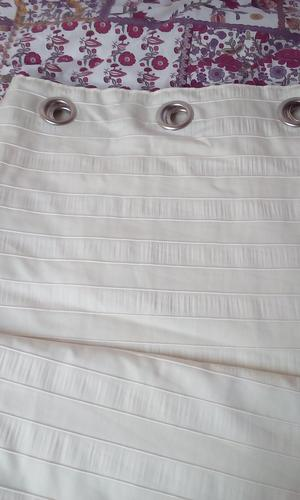 3 pairs of matching cream coloured eyelet lounge curtains