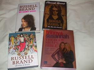 4 X BOOKS (3 RUSSELL BRAND & ONE FASHION BOOK)