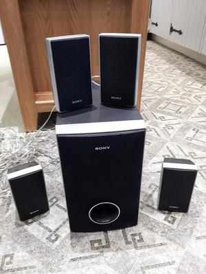 4 x Sony Surround Sound Speakers & Base Unit for TV