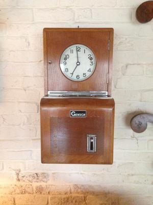 Antique clock in machine