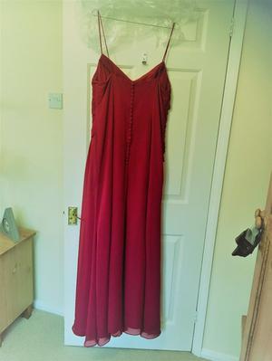 Bordeaux Bridesmaid Dress