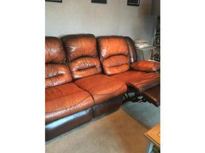 Brown leather sofas in Swindon