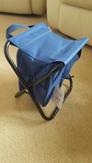 Camping stools (2) with built in cooler bags - Brand New