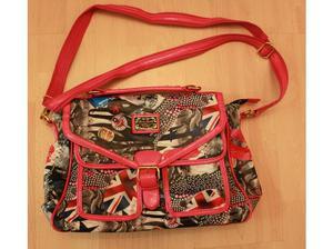 "Designer Fashion Bag- Red and Multi coloured - size 11"" x 9"""