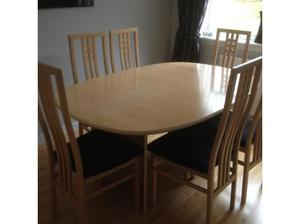 Dining Table, Chairs and Sideboard in Motherwell