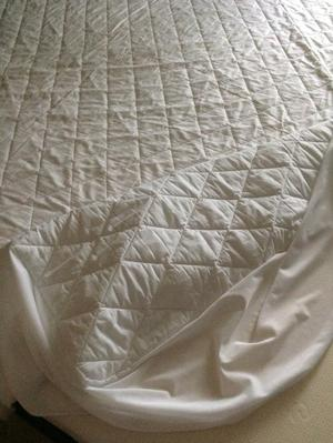 Fitted mattress protector for super king size mattress