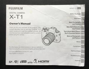 Fuji XT-1 original Camera User Manual / Guide