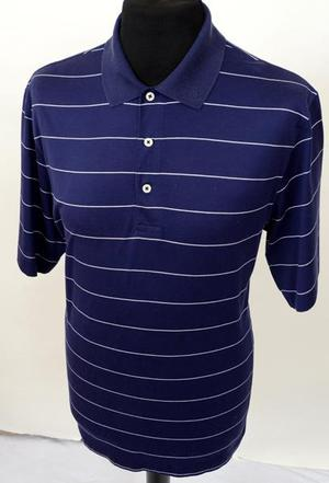 Mens Blue Vintage Ralph Lauren Polo Golf Shirt size Small