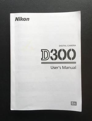 Original D300 Camera User Manual / Guide