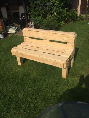 Recycled wooden garden bench/seat