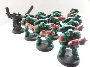 WH40K Dark Vengeance: Space Marines Dark Angels set, excellent condition