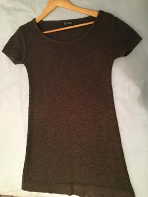 Wool brown dress