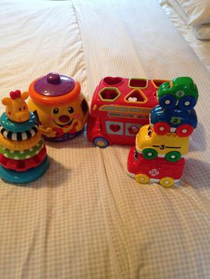 4 shape sorting/stacking toys