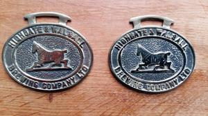 A Pair Of Highgate Brewery Horse Brasses.