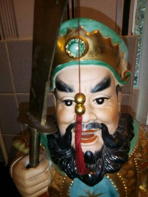 Antique Chinese Immortal 20 inches High Incense Burning Statue
