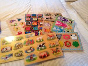 Bundle of 8 wooden shape puzzles
