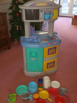Children's play kitchen.