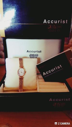Ladies Accurist 9ct Gold Watch