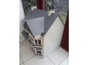 Large Dolls house with furniture in Cullompton