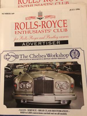Rolls Royce Enthusiasts' Club Advertiser