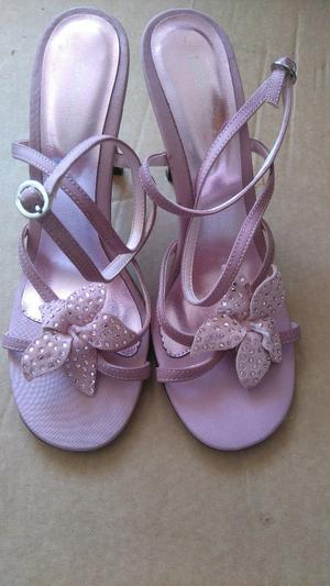 5 Pair of Ladies High Heel Sandals / Shoes - UK Size 4 (Eu size 37)