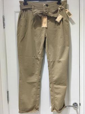 BNWT Natural desert tie waist tapered trousers Fat Face 14